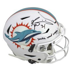 "Ricky Williams Signed Miami Dolphins Full-Size Authentic On-Field SpeedFlex Helmet Inscribed ""Smoke"