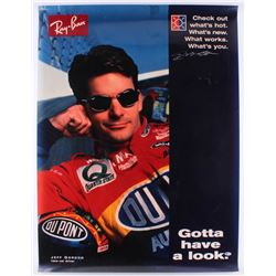 Jeff Gordon Signed 30x40 Ray-Ban Poster (Beckett Hologram)