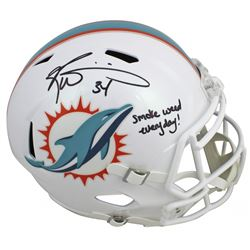 "Ricky Williams Signed Miami Dolphins Full-Size Speed Helmet Inscribed ""Smoke Weed Everyday!"" (JSA CO"