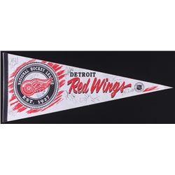 Detroit Red Wings Full-Size Pennant Signed by (9) with Steve Yzerman, Sergei Fedorov, Bob Probert, P
