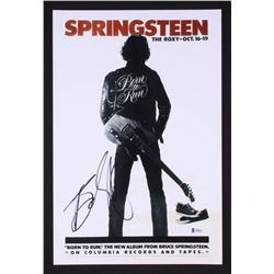 "Bruce Springsteen Signed ""Born To Run"" 12x18 Poster (Beckett LOA)"