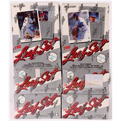 Lot of (6) 1990 Leaf Baseball Boxes with (3) Series 1  (3) Series 2