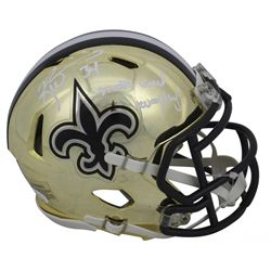"Ricky Williams Signed New Orleans Saints Chrome Speed Mini Helmet Inscribed ""Smoke Weed Everyday!"" ("