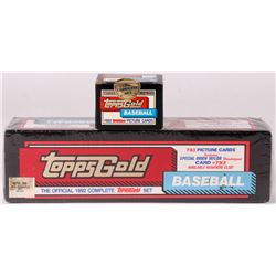 1992 Topps Gold Complete Set (793) Cards with 1992 Topps Gold Traded Series Baseball (132) Cards