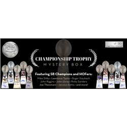 Press Pass Collectibles 2019 Championship Lombardi Trophy Mystery Box – Series 1 (Limited to 50)