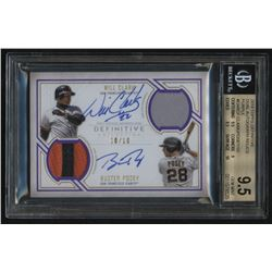 2019 Topps Definitive Dual Autograph Relics Purple #DARCP Will Clark / Buster Posey #10/10 (BGS 9.5)
