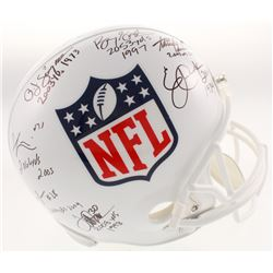 2,000 Yard Rushing Club NFL Logo Full-Size Helmet Signed by (7) with Eric Dickerson, Adrian Peterson