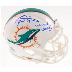 "Ricky Williams Signed Miami Dolphins Speed Mini Helmet Inscribed ""Smoke Weed Everyday!"" (JSA COA)"