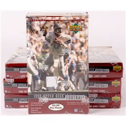 Lot of (7) 1999 Upper Deck Football Unopened Box with (24) Packs