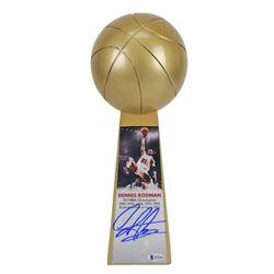 "Dennis Rodman Signed Chicago Bulls 14"" Championship Basketball Trophy (Beckett COA)"