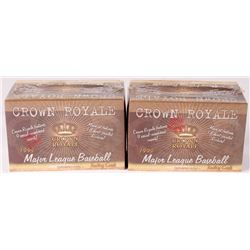 Lot of (2) 1999 Crown Royale Baseball Trading Card Boxes