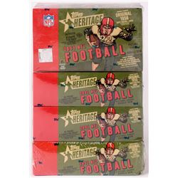 Lot of (4) 2001 Topps Heritage Football Hobby Boxes