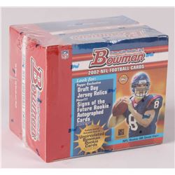 2002 Bowman Football Unopened Factory Box with (10) Packs