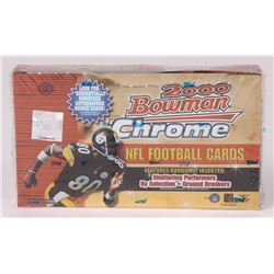 2000 Bowman Chrome Football Unopened Hobby Box of (24) Packs
