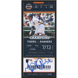 Miguel Cabrera Signed 2013 MLB American League Champions Game Ticket Stub (Hollywood Collectibles CO