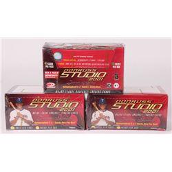 Lot of (3) Factory Sealed 2001 Donruss Studio Baseball Card Boxes