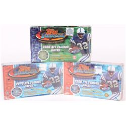 Lot of (3) 2000 Topps Finest Football Unopened Boxes with (12) Packs