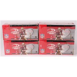 Lot of (4) 2002 Donruss Football Card Hobby Boxes with (24) Packs Each