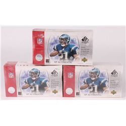 Lot of (3) 2003 Upper Deck SP Authentic Football Hobby Boxes