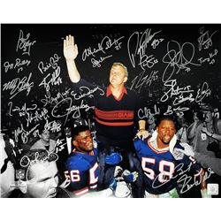New York Giants Super Bowl XXV 16x20 Photo Team-Signed by (29) with Phil Simms, Lawrence Taylor, Jef
