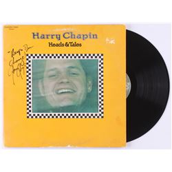 "Harry Chapin Signed ""Heads  Tales"" Vinyl Record Album Inscribed ""Keep the Change!"" (JSA LOA)"