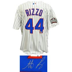 Anthony Rizzo Signed Chicago Cubs 2016 World Series Majestic Jersey (MLB Hologram  Fanatics Hologram