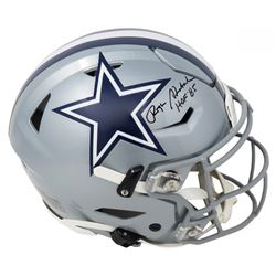 "Roger Staubach Signed Dallas Cowboys Full-Size Authentic On-Field SpeedFlex Helmet Inscribed ""HOF 85"