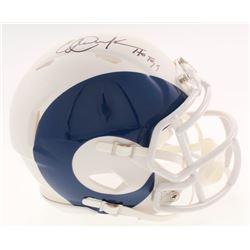 "Eric Dickerson Signed Los Angeles Rams AMP Alternate Speed Mini Helmet Inscribed ""HOF 99"" (Beckett C"