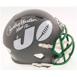 "Curtis Martin Signed New York Jets AMP Alternate Speed Mini Helmet Inscribed ""HOF 12"" (Beckett COA)"