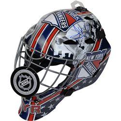 Henrik Lundqvist Signed New York Rangers Full Size Goalie Mask (Steiner COA)
