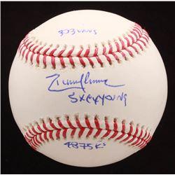 Randy Johnson Signed OML Baseball Inscribed with Multiple Inscriptions (JSA Hologram)