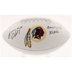 "Gary Clark Signed Washington Redskins Logo Football Inscribed ""Receiving YDs 10,856"" (JSA COA)"