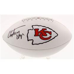 Christian Okoye Signed Kansas City Chiefs Logo Football (JSA COA)