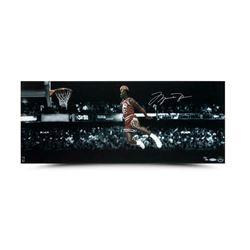 Michael Jordan Signed Chicago Bulls LE 12x30 Photo (UDA COA)