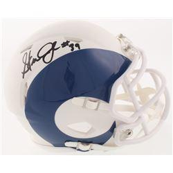 Steven Jackson Signed Los Angeles Louis Rams AMP Alternate Mini-Helmet (Beckett COA)