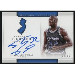 2016-17 Panini National Treasures Hometown Heroes Autograph #34 Shaquille O'Neal #32/35