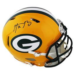 Aaron Rodgers Signed Green Bay Packers Full-Size Authentic On-Field Speed Helmet (Fanatics Hologram)