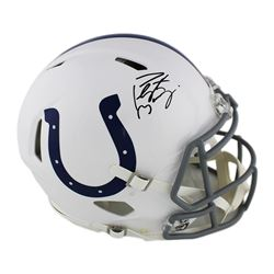 Peyton Manning Signed Indianapolis Colts Full-Size Authentic On-Field Speed Helmet (Fanatics Hologra