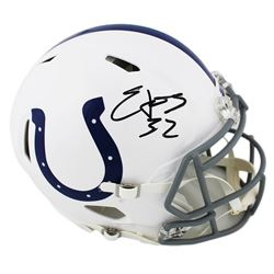Edgerrin James Signed Indianapolis Colts Full-Size Authentic On-Field Speed Helmet (Radtke COA)