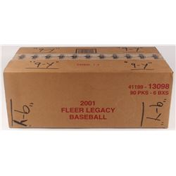 2001 Fleer Legacy Baseball Card Hobby Box Case with (6) Boxes