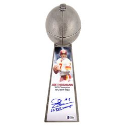 "Joe Theismann Signed Washington Redskins 15"" Lombardi Football Championship Trophy Inscribed ""SB X"