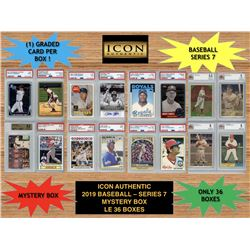 Icon Authentic 2019 Baseball Mystery Box- Series 7 (100+ Cards per Box)