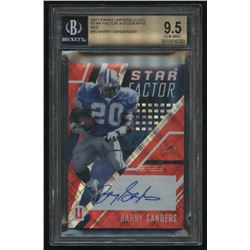 2017 Panini Unparalleled Star Factor Autographs Red #16 Barry Sanders #4/25 (BGS 9.5)