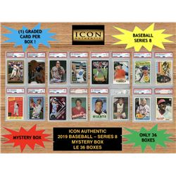 Icon Authentic 2019 Baseball Mystery Box- Series 8 (100+ Cards per Box)