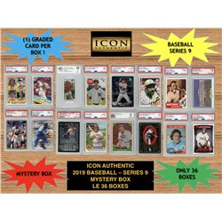 Icon Authentic 2019 Baseball Mystery Box- Series 9 (100+ Cards per Box)