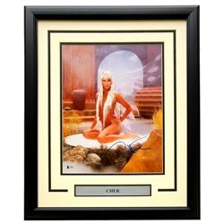 Cher Signed 16x20 Custom Framed Photo Display (Beckett COA)