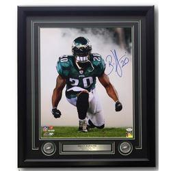 Brian Dawkins Signed Philadelphia Eagles 22x27 Custom Framed Photo Display (JSA COA)