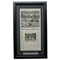 Philadelphia Eagles 18x20 Custom Framed 2018 Super Bowl LII Miracle Newspaper Page Display
