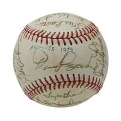 1979 Philadelphia Phillies ONL Baseball Team-Signed By (19) With Tug McGraw, Bud Harrelson, Pete Ros