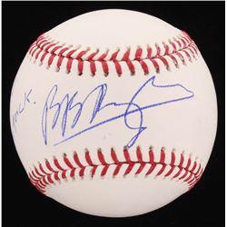 """Brian Baumgartner Signed OML Baseball Inscribed """"Few Word Do Trick"""" (PSA COA)"""